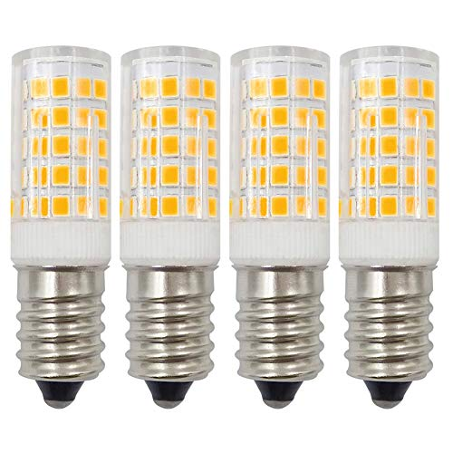 12 V E14 LED-lamp 4 W warmwit 3000 K komt overeen met 35 W-40 W halogeen SES kleine Edison schroeffitting, lage spanning niet dimbaar, 4 stuks
