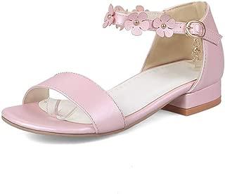 BalaMasa Womens ASL06843 Pu Block Heels