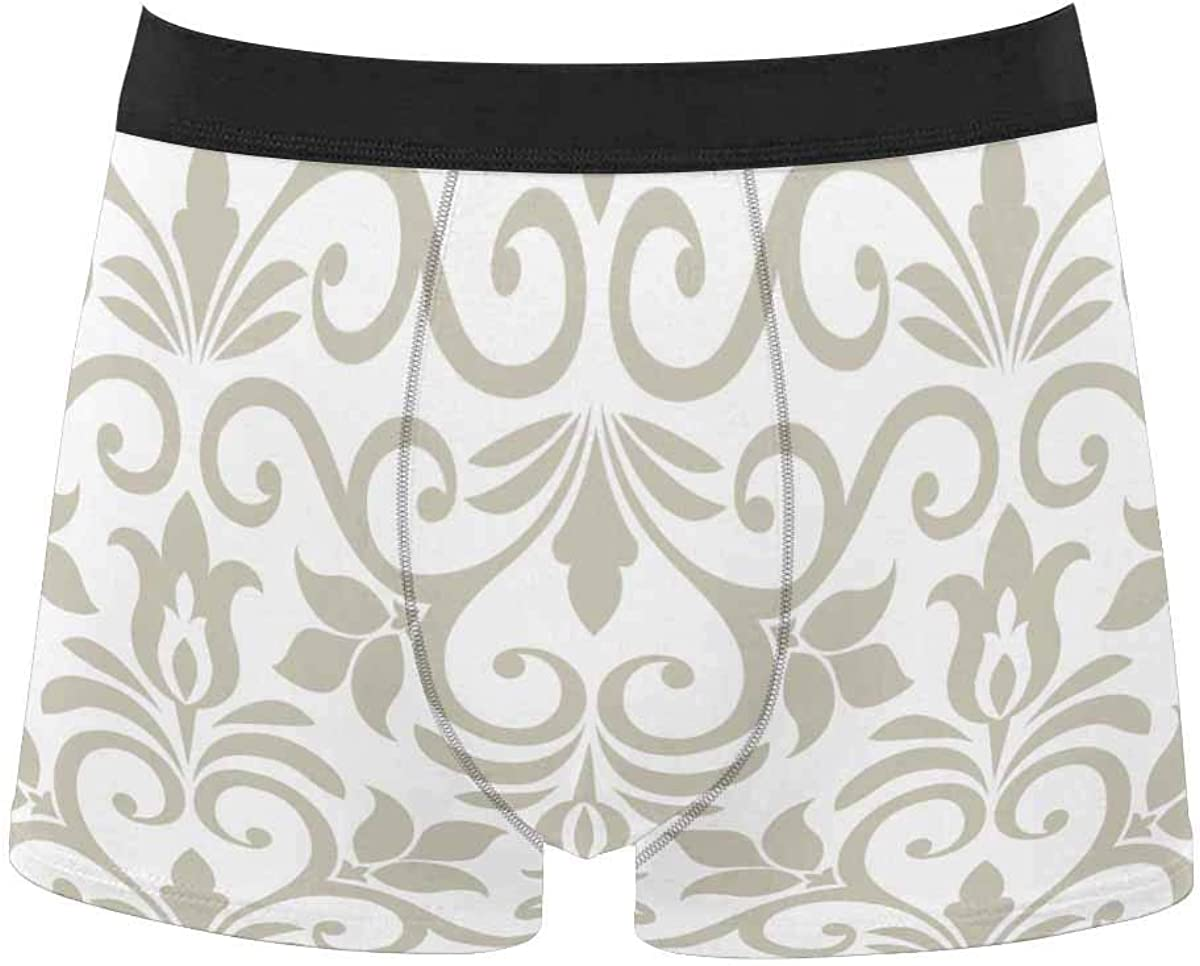 InterestPrint Men's Underwear Classic Fit Boxer for Youth Juniors Boys Daisy Flowers