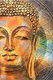 Cartel abstracto de la estatua de Buda Arte de la pared Pintura en lienzo Impresión moderna Estatua de Buda Imagen Cartel budista Decoración de la sala de estar familiar-50X70cm_Unframed_DM464-2