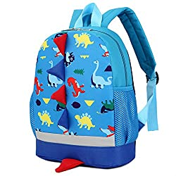 3D animal backpacks for 1-5 years boys, girls Main material: neoprene, lightweight, water resistance, easy to clean Size:26*9*29 CM; Weight: 250g; Capacity:19 L, Recommend kids height: 85-115CM Padded breathable mesh on back; adjustable straps, makes...