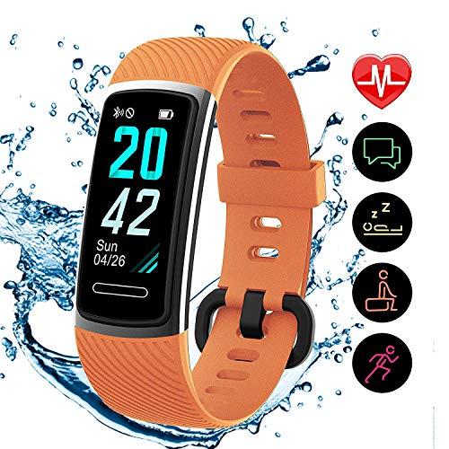 [Aktualisierte 2020 Version] Fitness Armband mit Pulsmesser,IP68 Wasserdicht Smartwatch Aktivitätstracker Sportuhr,Fitness Tracker Pulsuhr Schrittzähler Uhr für Damen Herren für iPhone Android Handy