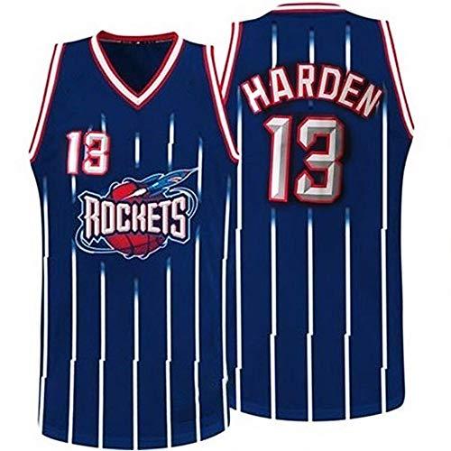 LITBIT Camiseta de baloncesto para hombre, de la NBA Houston Rockets 13 # Harden Retro 2021, transpirable, secado rápido, resistente al desgaste, sin mangas, para deportes, azul, XL