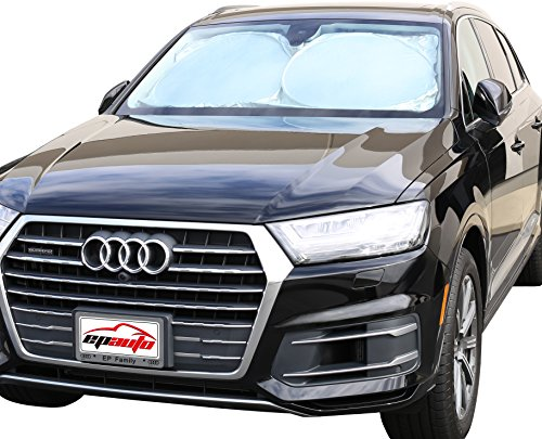 EPAuto Car Windshield Sun Shade - UV Ray Deflector for Full-Size Sedan/SUV/Jeep/Minivan Vehicle Cool and Damage Free (63 x 34 Inches)
