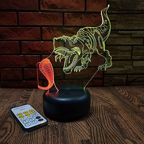 Dinosaur Cobra 3D Visual Night Light color change Christmas decoration lights 3D Fixtures Kids Room Light