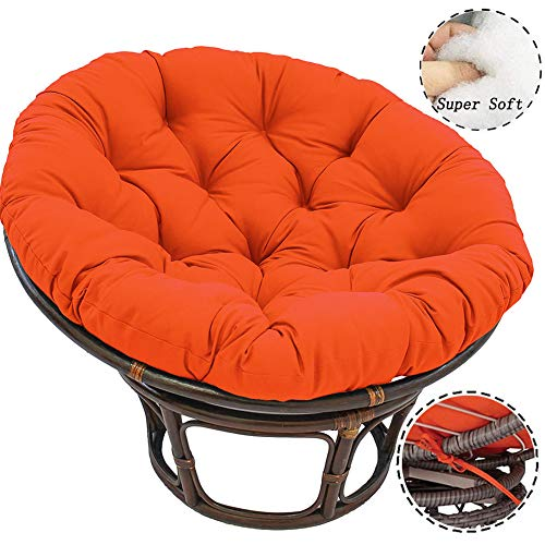 WAQIA Thicked Papasan Chair Cushion Outdoor Egg Seat Cushions Comfortable Hanging Chair Cushion Hammocks Swing Pad for Indoor Outdoor (51x51Inch)
