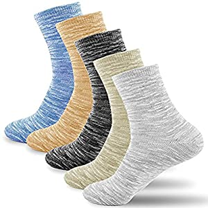 Riorune 靴下 メンズ ソックス 5足セット (マーブル/ロング)