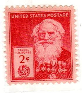 Postage Stamps United States. One Single 2 Cents Rose Carmine, Famous Americans Issue, Inventors, Samuel F. B. Morse Stamp, Dated 1940, Scott #890.