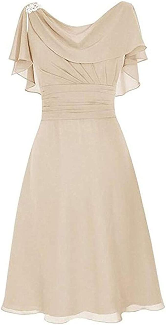 Kleid Fur Hochzeit Damen Vokuhila A Linie Schicke Elegant Abendkleider Frauen Ruckenfrei Volant Schlicht Kleider Amazon De Bekleidung