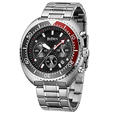 Amazon - Save 80%: Mens Watches Fashion Business Chronograph Analogue Waterproof Qu…