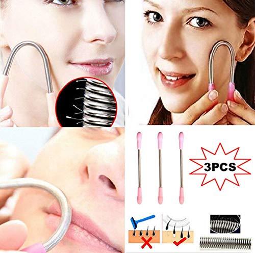 3er-Pack Epilierer-Stick Gesichtspflege Gesichtshaarentferner Frühlings-Gewindeschneidwerkzeug Augenbrauen-Rasierer/Trimmer, Gewindeschneidwerkzeug