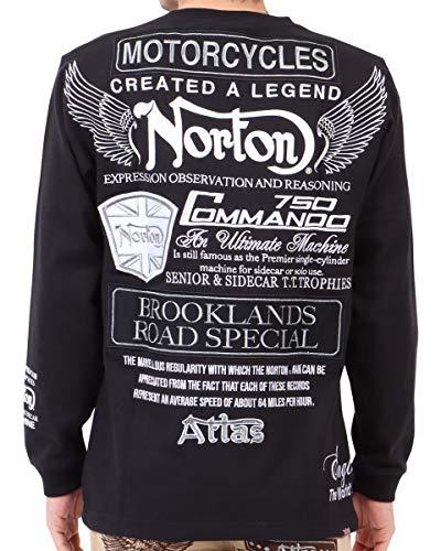 [ノートン] Norton Tシャツ 長袖 モノトーン インパクト ロンT 211N1103 ブラック XL