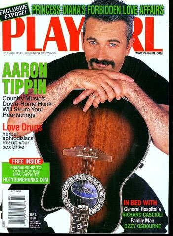 Playgirl Magazine, issue dated September 1998 Aaron Tippin-Country Music s hunk; In Bed with General Hospitals Richard Cascioli!