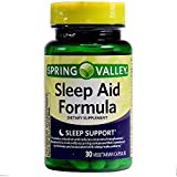 Spring Valley Melatonin Sleep Aid Formula Vegetable Capsules 10 mg 30 Ct