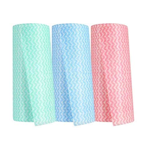 Afwassen Doek Rag Disposable Non-Stick Olie Nonwoven Doek afwasmachines Cleaning Towel Nat en droog Dual-Use absorberend Lint-Free Huishoudelijk Cleaning Theedoek 5 Rolls cleaning towels