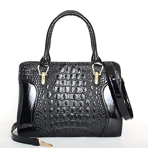 NR Damen Handtaschen Schulterbeutel ShopperSmiley-Paket-Schwarz
