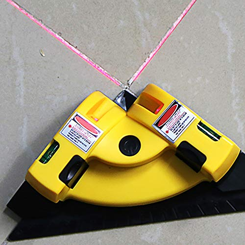 Linienstrahl Nivellierwerkzeug, ABEDOE 90 Grad Ausrichtungslayout Messwerkzeug, vertikales horizontales Linienstrahl-Nivellier-Projektionsstrahlwerkzeug mit zwei Saugnäpfen