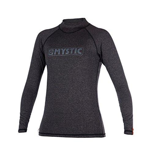 Mystic Wassersport - Surf Kitesurf & Windsurfen Stern - Frauen Langarm Schnell Dry Leicht Rash Vest Top schwarz