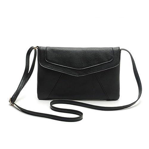 5e38f97087e9 ZOONAI Womens Small Leather Envelope Crossbody Shoulder Bag Purse
