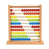 NUOBESTY Juguete de Conteo Educativo de Ábaco de Madera Juguete Clásico de Madera para Juegos de Matemáticas