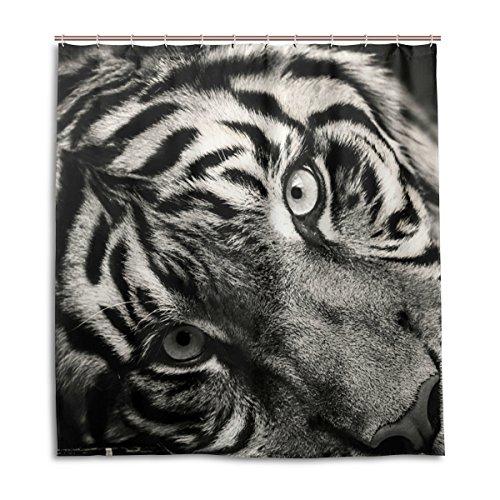MyDaily Tiger Duschvorhang, 183 x 183 cm, schimmelresistent & wasserdicht, Polyester, Dekoration für Badezimmer