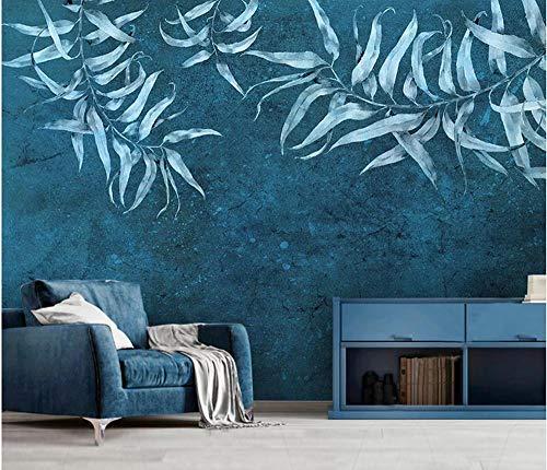 Tapete Fototapete Poster Vlies Tapete Nordische minimalistische kleine frische grüne Blätter IKEA Stil Hintergrundwand @ 400cmx280cm Aufkleber, hängende Bilder, Wanddekoration