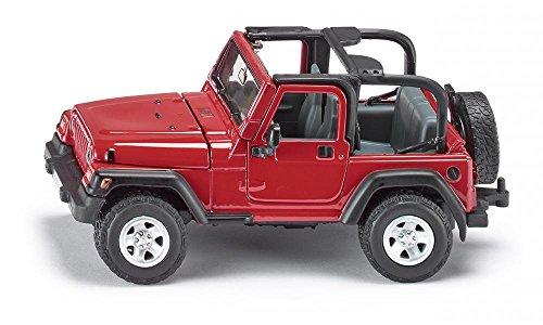 siku 4870, Jeep Wrangler Geländewagen, 1:32, Metall/Kunststoff, Rot, Achsschenkellenkung