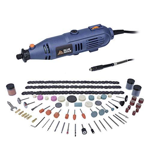 BLUE RIDGE 130W Drehwerkzeug BR3100 Multifunktionswerkzeug, 233-tlg. Zubehör zum Schärfen, Schleifen, Reinigen, Polieren, Schneiden
