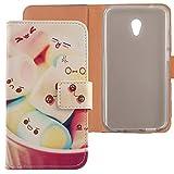 Lankashi PU Flip Leder Tasche Hülle Case Cover Schutz Handy Etui Skin Für Alcatel U5 3G 4047D 4047F 5
