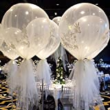 Katoot@ 6Pcs/Lot 36' Large Latex Ballons Oval Balloon Transparent Clear Helium Balloons Wedding Party Events DIY Decoration Supplies