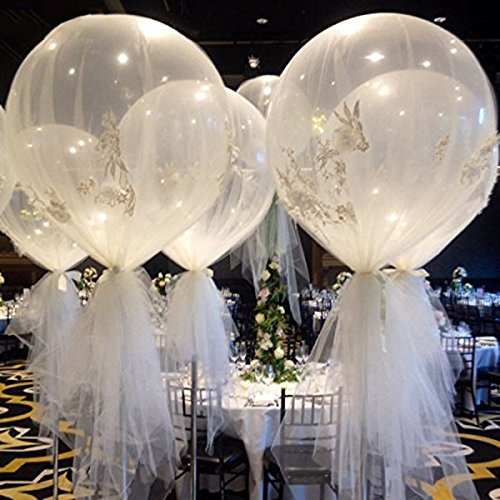 "Katoot@ 6Pcs/Lot 36"" Large Latex Ballons Oval Balloon Transparent Clear Helium Balloons Wedding Party Events DIY Decoration Supplies"