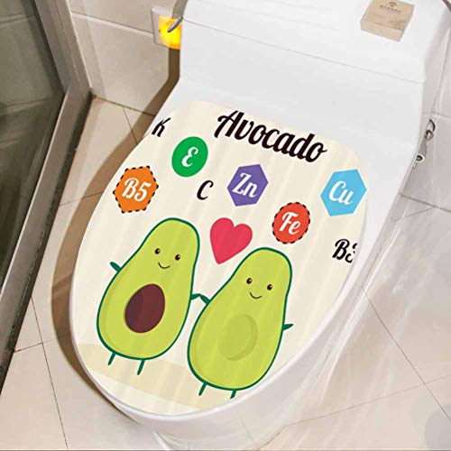 Bathroom Sticker Funny Food Vitamins House Decoration Wallpaper for Home Living Room Bedroom Kitchen, W30xH36 cm