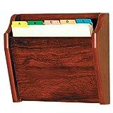 Discount Medical Depot LLC DMD Chart or File Holder, Tapered Single Pocket, Letter Size, Wall Mounted, Mahogany Oak Wood Finish