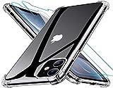 FastTech - Carcasa para iPhone 11 (incluye 2 protectores de pantalla de cristal templado)