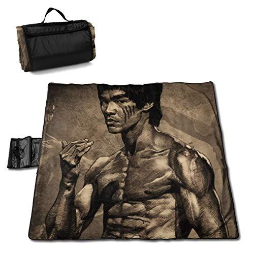 FASHIONDIY Bruce Lee wasserdichte Picknick-Matte, rutschfeste Outdoor-Matte, Wandern, Camping, Ausflüge, Bodenmatte