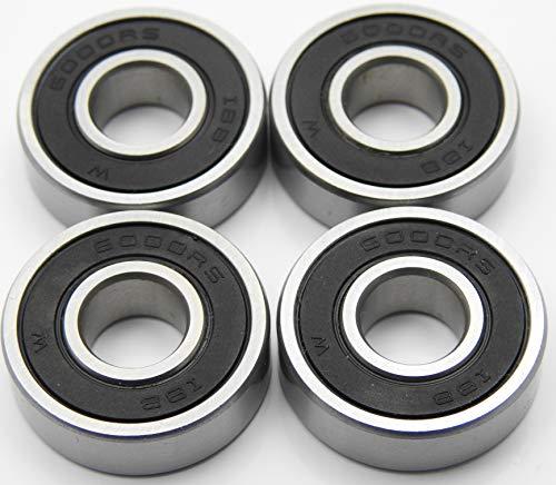 4 Stück Kugellager 6000 2RS / 10 x 26 x 8 mm, Rillenkugellager