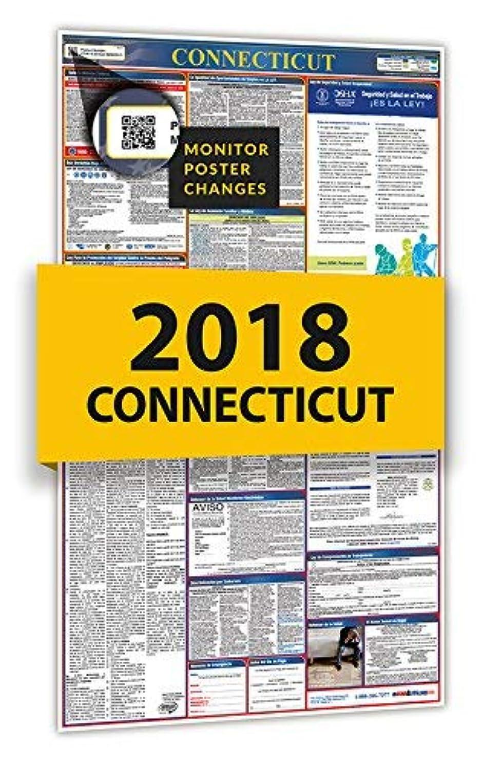 鼻連続した鑑定2018 Connecticut Spanish All in One Labor Law Poster [並行輸入品]