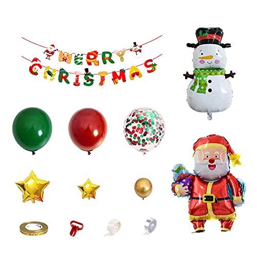 KU Syang Navidad Pull Flag Banner LáTex PelíCula de Aluminio Juego de Globos CombinacióN AAO Nuevo Tema de Vacaciones