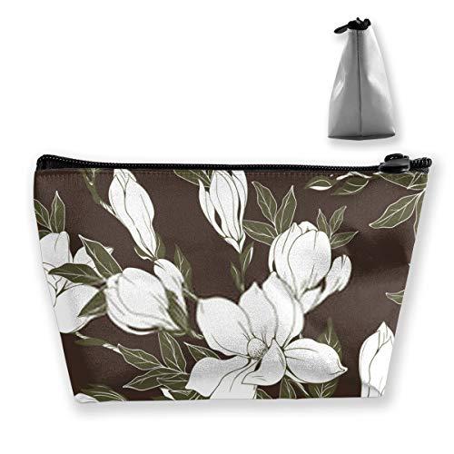Vintage Magnolia Fleurs et Bourgeons Boîte Multifonction Grand Organisateur de Maquillage Organisateur de Brosse pour Femme Fille