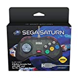 Retro-Bit Official SEGA Saturn Control Pad USB - Slate Grey