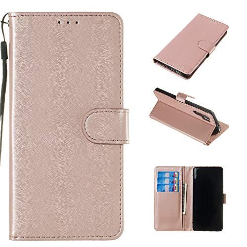 Capas premium para Xperia XZ de couro PU carteira compartimentos para cartão de identificação fecho magnético flip alça de mão capa à prova de choque para Sony Xperia XZ Premium – Dourado