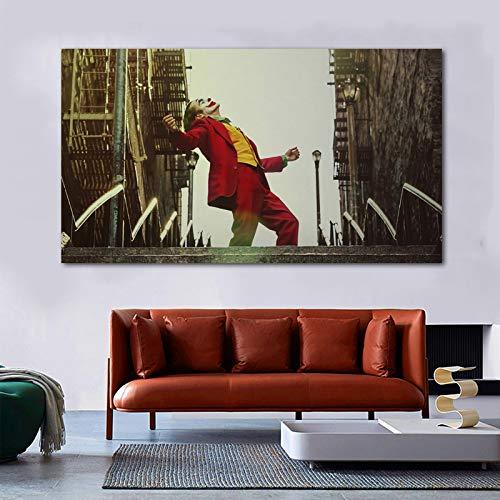 IHlXH RELIABLI Art Joker Poster Carteles e Impresiones de películas Pintura sobre Lienzo Arte de la Pared para la decoración de la Sala Cuadros Modernos Cuadros 60x105cm Sin Marco