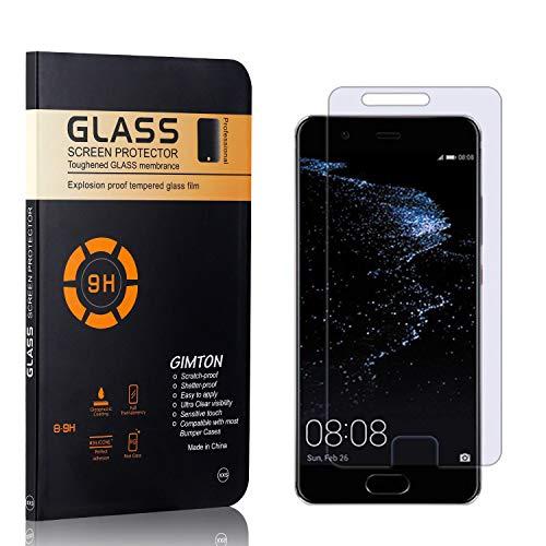 GIMTON Displayschutzfolie für Huawei P10 Plus, 9H Härte, Blasenfrei, Anti Öl, Ultra Dünn Kratzfest Schutzfolie aus Gehärtetem Glas für Huawei P10 Plus, 4 Stück