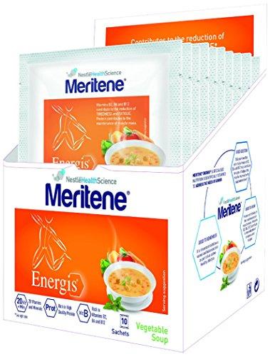 Meritene Energis Vegetable Soup, 50g Sachets, Pack of 10