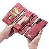 XSJK Funda Samsung Galaxy Note10/Note10+/Note9/Note8/S10/S10Plus/S10E S9Plusg/S9/S8Plus/S8/S7edge/S7/A80/90/A70 Funda Monedero Case Cartera Multifuncional Estuche móvil,C,SamsungS9