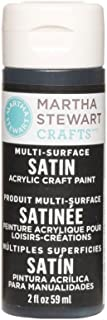 Martha Stewart Crafts Multi-Surface Satin Acrylic Craft Paint in Assorted Colors (2-Ounce), 32082 Beetle Black
