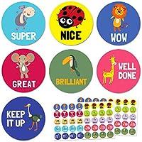 Animal Pegatinas de Recompensa - 10 diseños, 1000 pegatinas