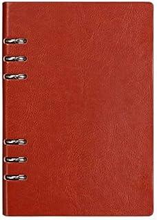 Clenp Cuaderno A5, 6 anillas de piel sintética para escritura, diario para estudiantes, estudiantes universitarios, hombre...