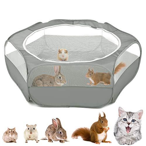 VavoPaw Valla para Mascotas Plegable, Bolsa Almacenamiento Portátil de Animales Pequeños, Tienda Jaulas Transpirable Aire Libre para Indias, Conejos, Hámsters, Chinchillas, Erizos, Gatos, Null