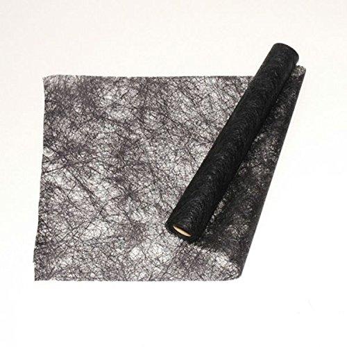Chaks C51030061 - Chemin de Table Brillance 30cm x 10m, Noir